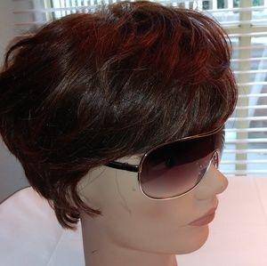 GUESS GUF-110 Silver Metal Shield Sunglasses